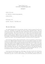 QED Lecture notes - all, with gaps - Physics
