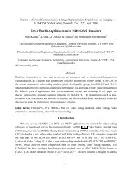 Error resiliency schemes in H. 264/AVC standard - Sdsu