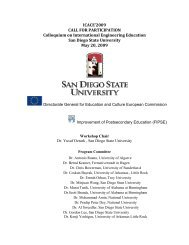 ICACE'2009 CALL FOR PARTICIPATION Colloquium on International ...