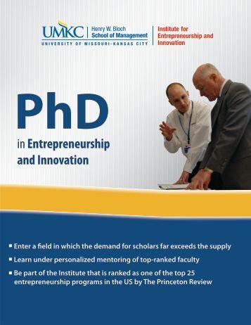 Program Brochure - UMKC Institute for Entrepreneurship and ...