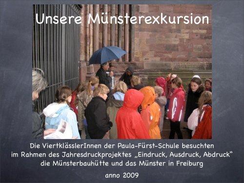 Münsterexkursion 1 - Paula Fürst Schule