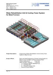 Water Rehabilitation Unit & Cooling Tower System for Blast Furnace