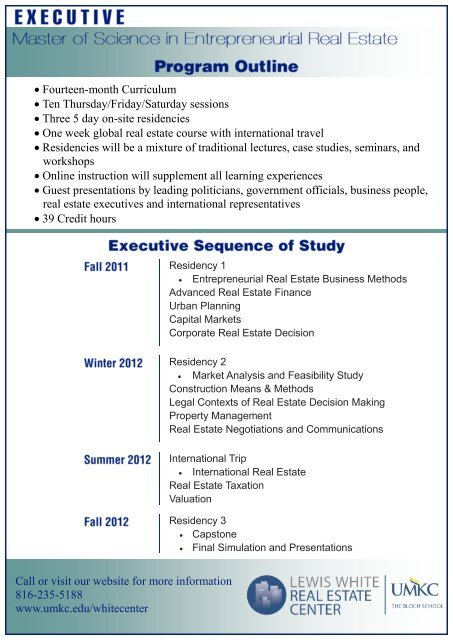 Program Outline and Course Descriptions - UMKC Institute for