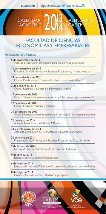 Calendario Ua.Economicas Ua Es Magazines