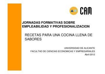 RECETAS PARA UNA COCINA LLENA DE SABORES - Facultad de ...