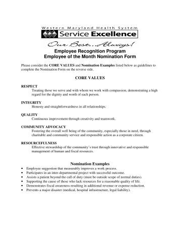 employee of the quarter certificate template - employee of the month nomination form lifetime assistance