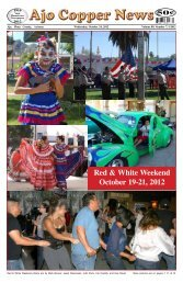 Red & White Weekend October 19-21, 2012 - Ajo Copper News