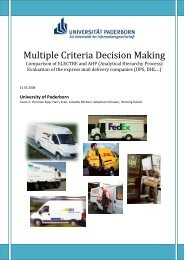 Multiple Criteria Decision Making - Echo-upb.de