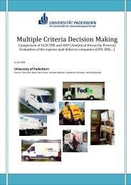 Multiple Criteria Decision Making - Echo-upb.de