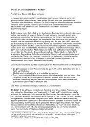 Was ist ein wissenschaftliches Modell? 1 Prof. Dr.-Ing ... - Echo-upb.de