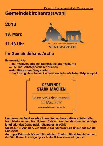 Gemeindekirchenratswahl 2012 - Ev.-luth. Kirchengemeinde ...