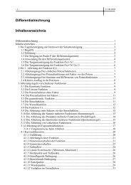 Differentialrechnung Zusammenfassung als PDF - VolkerBehrens.de