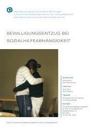 Bewilligungsentzug bei Sozialhilfeabhängigkeit - Schweizerische ...