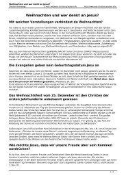 Weihnachten und wer denkt an Jesus? - was-Christen-glauben.info