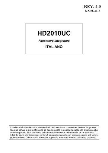 HD2010UC - Delta Ohm S.r.l.