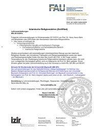 Lehrveranstaltungen Wintersemester 2013/14