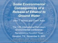 Some Environmental Consequences of a Release of Ethanol ... - IPEC