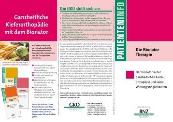 Die Bionator-Therapie - GKO - Gesellschaft für Ganzheitliche ...