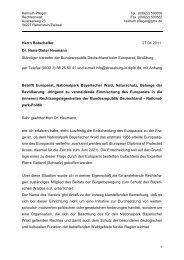 Schreiben an Botschafter der Bundesrepublik beim Europarat vom ...