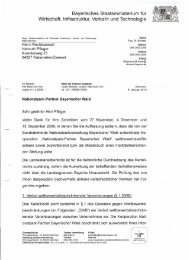 Schreiben des Bayerischen Staatsministeriums für Infrastruktur ...