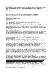 Text des Original-Briefs 2a mit Kennzeichnung der Passagen, die im ...