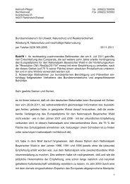 Schreiben vom 29.11.2011 an das Bundesumweltministerium