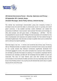 UN Internet Governance Forum – Security, Openness and Privacy ...