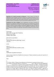 Tribunal fédéral – 5A_81/2011 Modification d'un jugement de divore ...