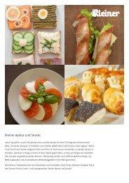 Kleiner Apéros und Snacks - Über Kleiner