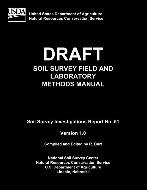 Soil Survey Field And Laboratory Methods Manual