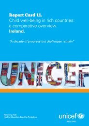 Report Card 11. Child well-being in rich countries ... - UNICEF Ireland
