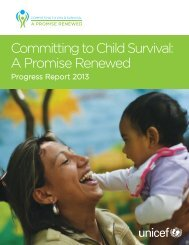 Committing to Child Survival: A Promise Renewed Progress ... - Unicef