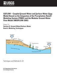 GSFLOW—Coupled Ground-Water and Surface-Water Flow Model ...