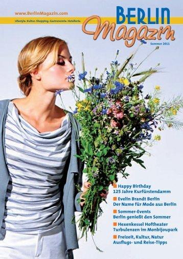 Titelseite der 23. Ausgabe - Das Berlinmagazin