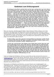 Gedanken zum Erlösungswerk - was-Christen-glauben.info
