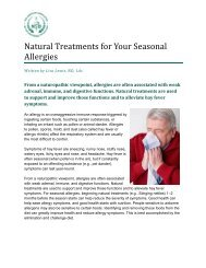 Natural Treatments for Your Seasonal Allergies - American ...