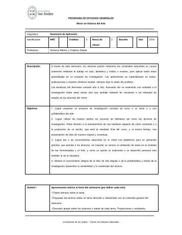 PROGRAMA DE ESTUDIOS GENERALES Minor en Historia del ...