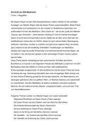 Die Kraft der ZEN-Meditation (Yudo J. Seggelke) Mit diesem Papier ...