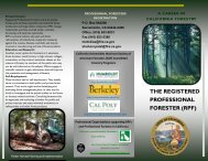the registered professional forester - Board of Forestry