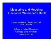 Measuring and Modeling Cumulative Watershed Effects