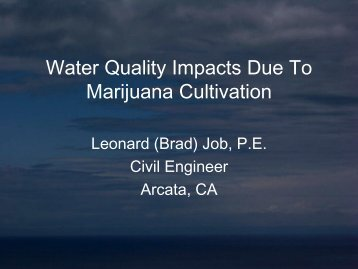 Marijuana Pollution Presentation - Brad Job