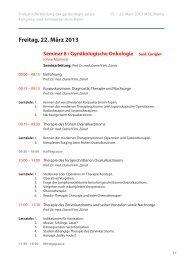 Seminar 8/ Gynäkologische Onkologie (ohne Mamma)