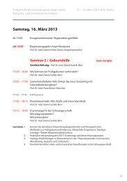 Seminar 2 - Frühjahrsfortbildung gynécologie suisse