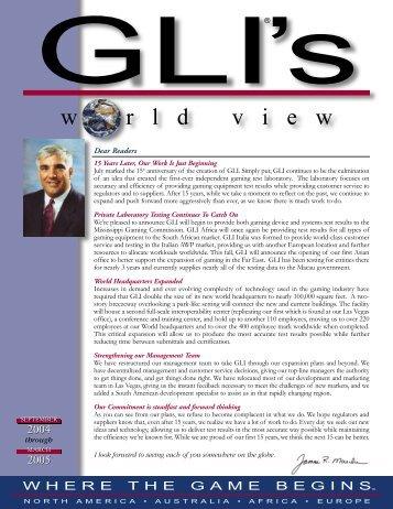 8.04 GLI News Page 1 - Gaming Laboratories International
