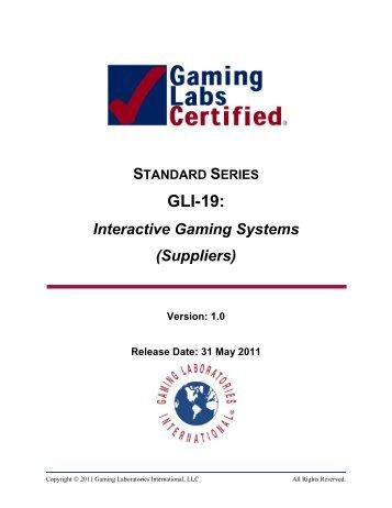 GLI-19: - Gaming Laboratories International