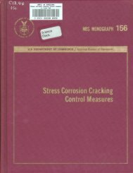 Stress Corrosion Cracking Control Measures - Digital Collections