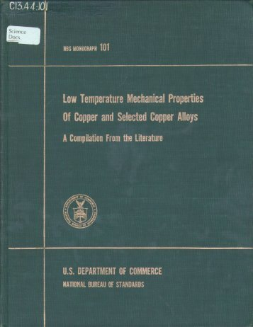Low Temperature Mechanical Properties Of Copper and Selected ...