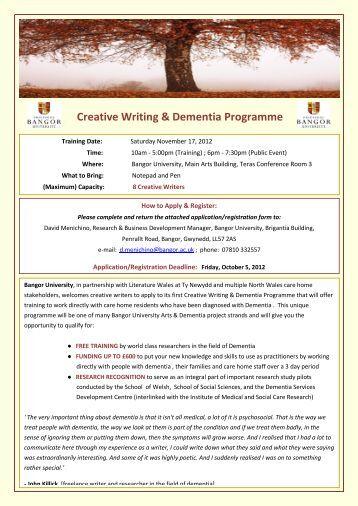 Creative writing training