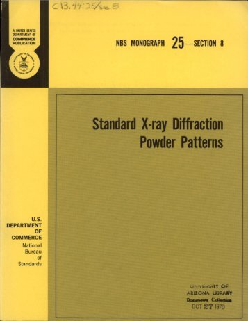 Standard X-ray Diffraction
