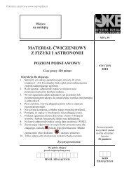 materiał ćwiczeniowy z fizyki i astronomii poziom ... - Sqlmedia.pl